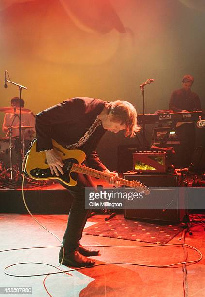 Britt Daniel of Spoon performs on stage at Shepherds Bush Empire on November 7 2014 in London United Kingdom