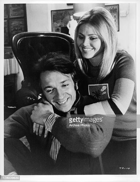 Britt Ekland And JeanPierre Cassel embrace in a scene from the film 'Baxter' 1973