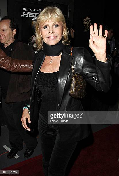 Britt Ekland during Smashbox Cosmetics and the Roxy Theater Present 'Hedwig And The Angry Inch' Arrivals at Roxy Theatre in West Hollywood California...