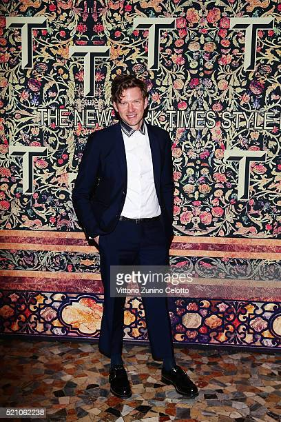 Britt Moran attend the T Celebration of Culture Issue And Milan Design Week at Palazzo Crespi on April 11 2016 in Milan Italy