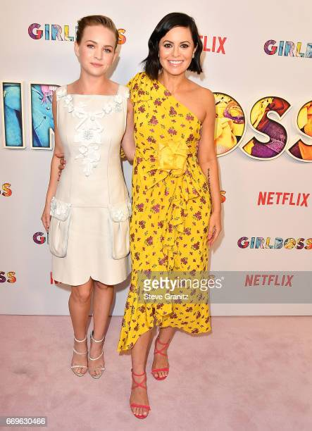 Britt Robertson Sophia Amoruso arrives at the Premiere Of Netflix's 'Girlboss' at ArcLight Cinemas on April 17 2017 in Hollywood California