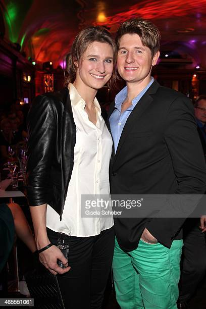 Britta Heidemann and boyfriend Torsten Weber attend the Lambertz Monday Night at Alter Wartesaal on January 27 2014 in Cologne Germany