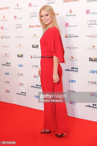 Britta Hofmann attends the Deutscher Sportjournalistenpreis 2015 at Grand Elysee Hotel on October 5 2015 in Hamburg Germany