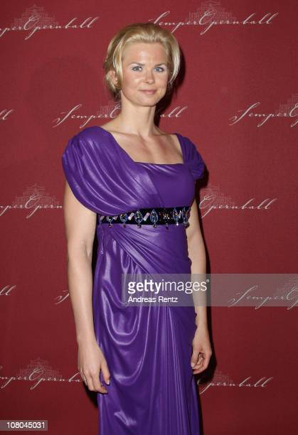Britta Steffen arrives at the Semper Opera ball on January 14 2011 in Dresden Germany