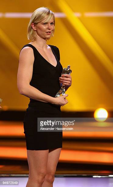Britta Steffen receives the 2nd place female 'Athlete of the Year' award during the 'Athlete of the Year' gala at the Kurhaus BadenBaden on December...