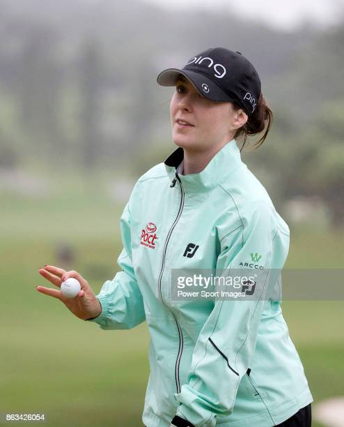 Brittany Altomare of the USA acknowledges the crowd after finishing onthe 18th hole during day two of the Swinging Skirts LPGA Taiwan Championship on...