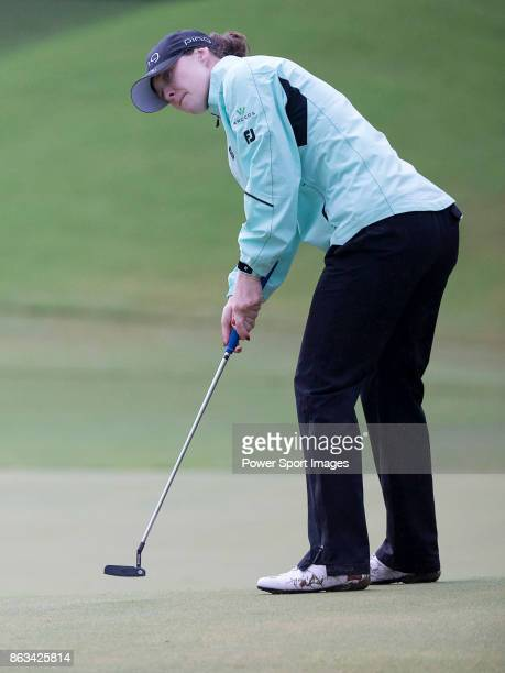 Brittany Altomare of the USA putts on the 17th green during day two of the Swinging Skirts LPGA Taiwan Championship on October 20 2017 in Taipei...