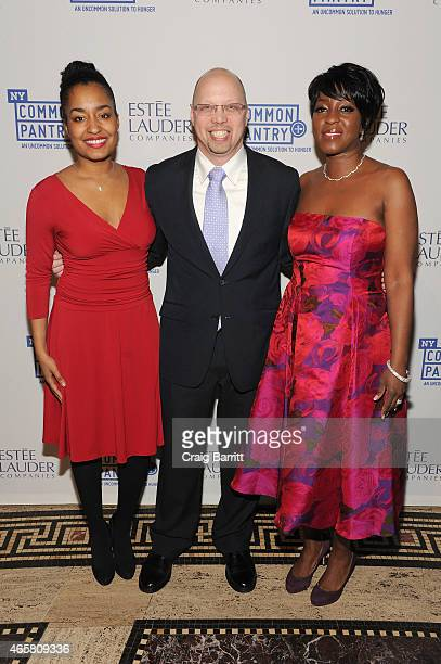 Brittany Bell Stephen Grimaldi and Cheryl Wills attend the annual 'Fill the Bag' fundraiser on March 10 2015 in New York City