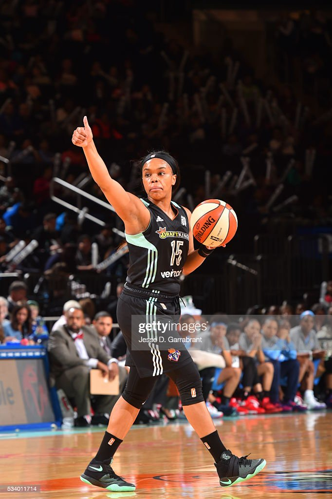 Brittany Boyd #15 of the New York Liberty is seen during the game against the Atlanta Dream on May 24, 2016 at Madison Square Garden in New York City, New York.