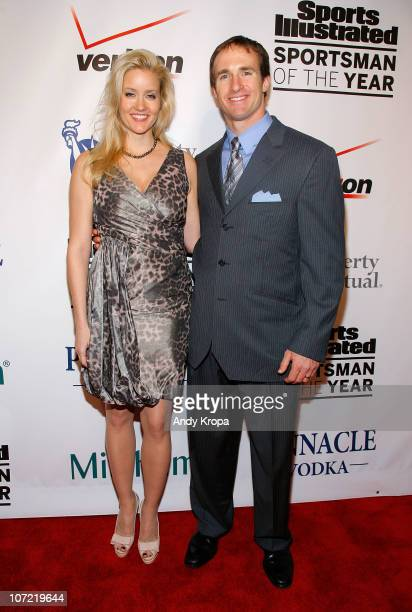 Brittany Brees and Sportsman of the Year Drew Brees of the New Orleans Saints attend the 2010 Sports Illustrated Sportsman of the Year Celebration at...