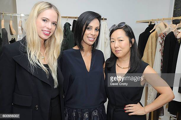 Brittany Burnett Azzy Rabbie and Celia Chen attend the Chloe W Magazine and MOCA Private Shopping Event with Maria Bell Sylvia Chivaratanond and...