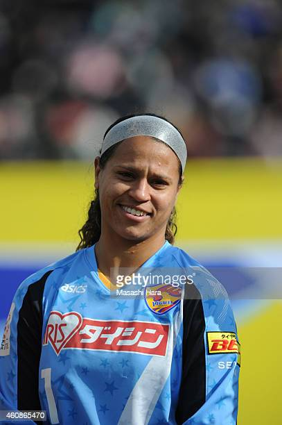 Brittany Cameron of Vegalta Sendai Ladies looks on prior to the Emperess's Cup semifinal match between Nippon Television Beleza and Vegalta Sendai...