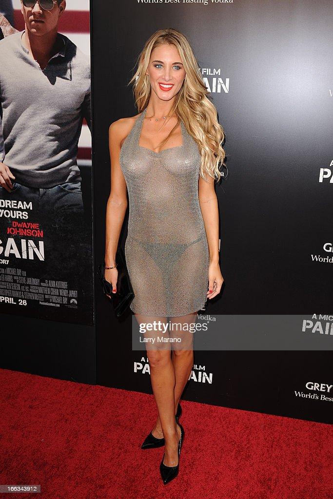 Brittany Cole attends the 'Pain & Gain' premiere on April 11, 2013 in Miami Beach, Florida.