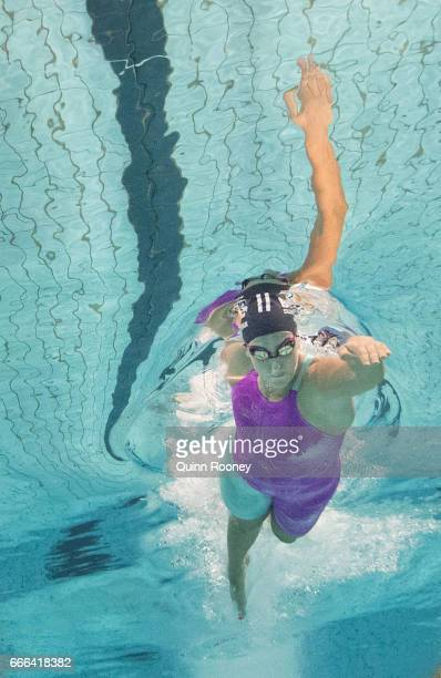 Brittany Elmslie of Australia competes in the Women's 100m Freestyle during the 2017 Australian Swimming Championships at the Sleeman Sports Complex...