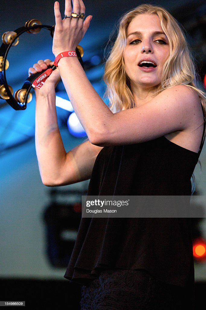 Brittany Hölljes of Delta Rae performs during the 2012 Voodoo Experience at City Park on October 26, 2012 in New Orleans, Louisiana.