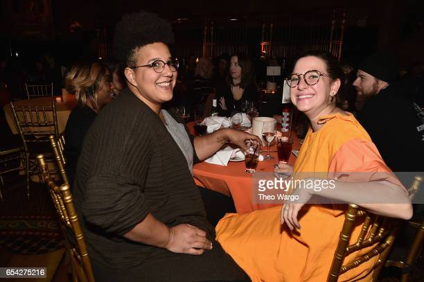 Brittany Howard and guest attend the after party for the Tibet House US 30th Anniversary Benefit Concert Gala to celebrate Philip Glass's 80th...