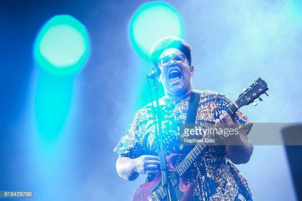 Brittany Howard from Alabama Shakes performs at 2016 Lollapalooza at Autodromo de Interlagos on March 13 2016 in Sao Paulo Brazil