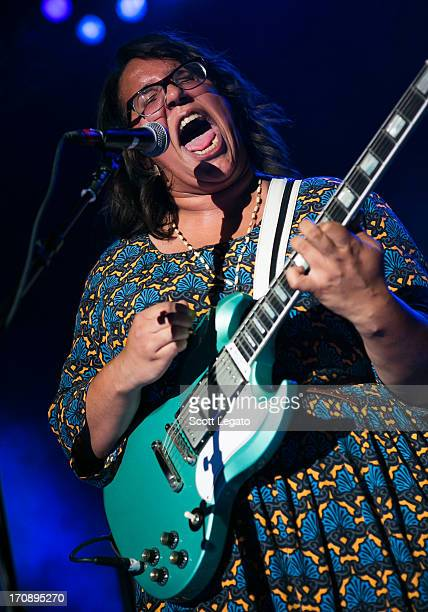 Brittany Howard of Alabama Shakes perform at the Royal Oak Music Theater on June 19 2013 in Royal Oak Michigan