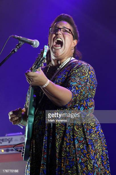 Brittany Howard of Alabama Shakes performs at day 3 of the Lowlands Festival on August 18 2013 in Biddinghuizen Netherlands