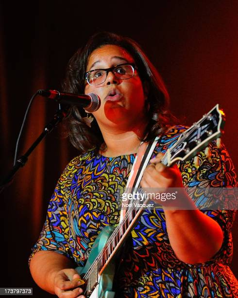 Brittany Howard of Alabama Shakes performs at the Hollywood Palladium on July 17 2013 in Hollywood California
