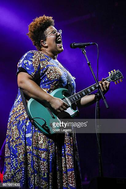 Brittany Howard of Alabama Shakes performs during Music Midtown 2016 at Piedmont Park on September 18 2016 in Atlanta Georgia