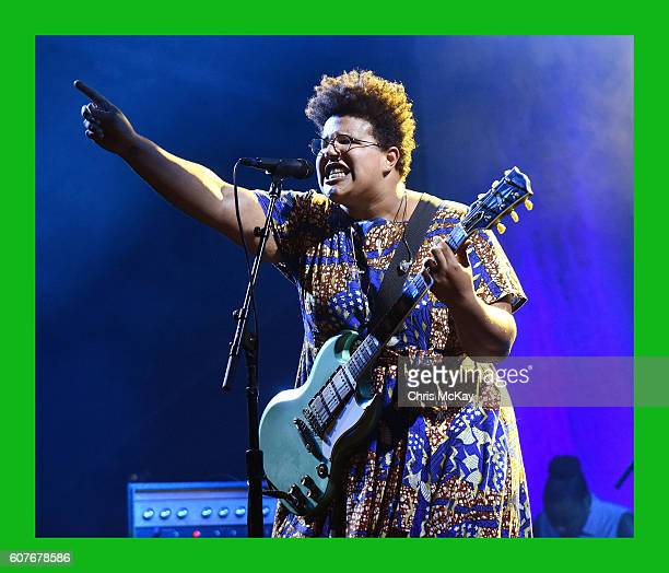 Brittany Howard of Alabama Shakes performs during the Music Midtown Festival at Piedmont Park on September 18 2016 in Atlanta Georgia