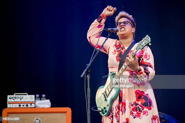 Brittany Howard of Alabama Shakes performs on Day 3 of the T in the Park festival at Strathallan Castle on July 12 2015 in Perth Scotland