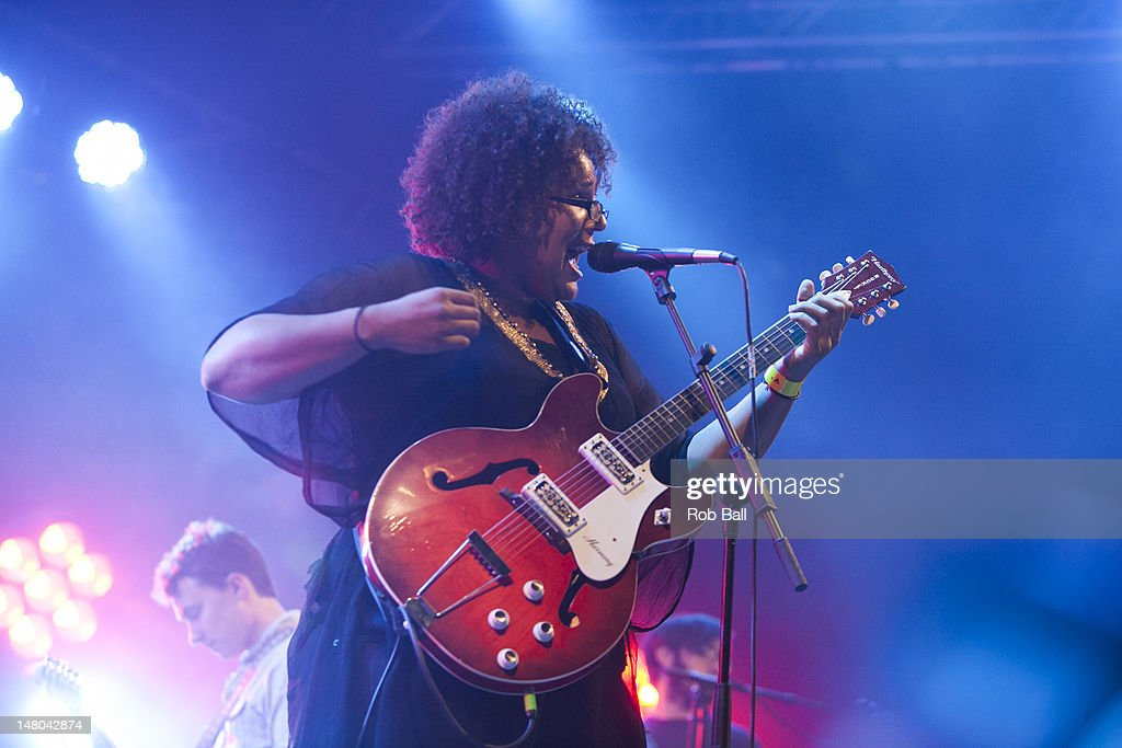 <a gi-track='captionPersonalityLinkClicked' href=/galleries/search?phrase=Brittany+Howard&family=editorial&specificpeople=8343255 ng-click='$event.stopPropagation()'>Brittany Howard</a> of Alabama Shakes performs on day four of Roskilde Festival on July 8, 2012 in Roskilde, Denmark.