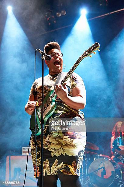 Brittany Howard of Alabama Shakes performs on stage at Islington Assembly Hall on February 19 2015 in London United Kingdom