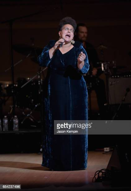 Brittany Howard of Alabama Shakes performs onstage during the Tibet House US 30th Anniversary Benefit Concert Gala to celebrate Philip Glass's 80th...