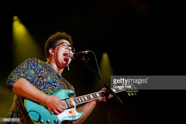 Brittany Howard of the Alabama Shakes performs during Suburbia Music Festival on May 3 2014 in Plano Texas