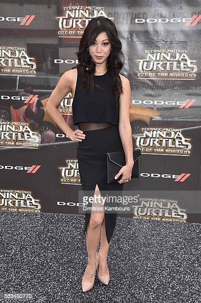 Brittany Ishibashi attends the 'Teenage Mutant Ninja Turtles Out Of The Shadows' World Premiere at Madison Square Garden on May 22 2016 in New York...