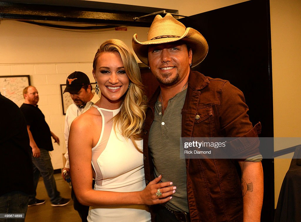 Brittany Kerr and Jason Aldean attend the 2014 CMT Music Awards at Bridgestone Arena on June 4 2014 in Nashville Tennessee