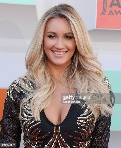 Brittany Kerr arrives at the 51st Academy Of Country Music Awards at MGM Grand Garden Arena on April 3 2016 in Las Vegas Nevada