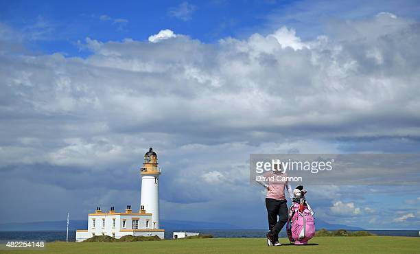 Brittany Lincicome of the United States on the ninth hole during her final practice round as a preview for the 2015 Ricoh Women's British Open on the...