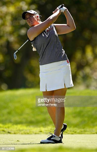 Brittany Linicome tees off on the 7th hole during the first round of the CVS/pharmacy LPGA Challenge at Blackhawk Country Club on September 24 2009...
