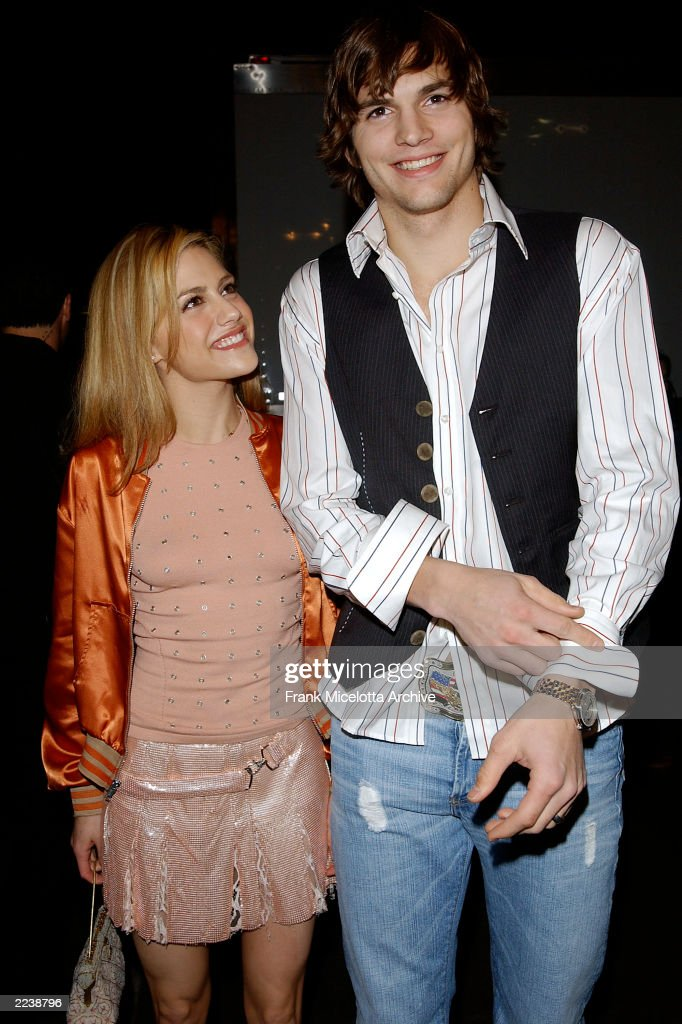 Brittany Murphy and Ashton Kutcher arrives at the VH1 Big in 2002 Awards held at the Grand Olympic Auditorium on December 4 2002