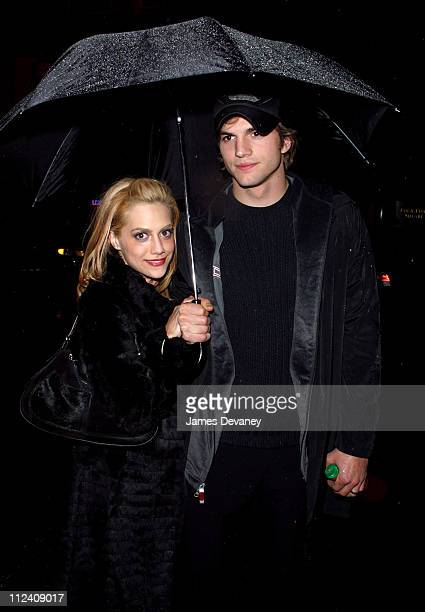 Brittany Murphy and Ashton Kutcher during Brittany Murphy Hosts 'SNL' AfterParty at Times Square in New York City New York United States