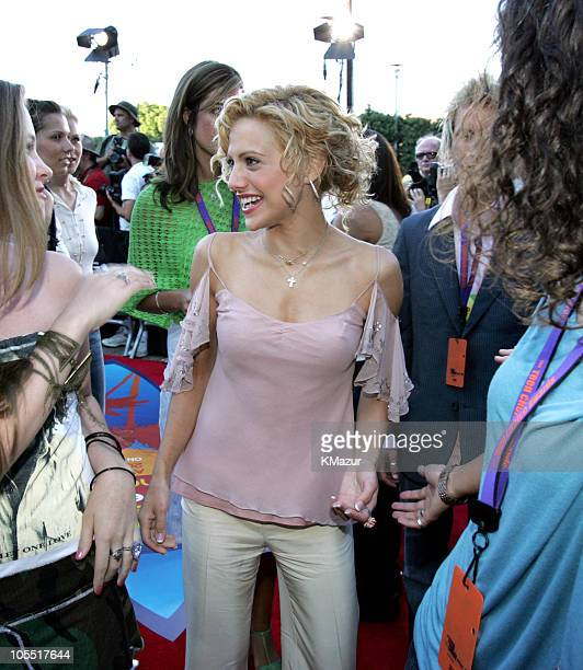 Brittany Murphy and fans during The 2004 Teen Choice Awards Red Carpet at Universal Amphitheatre in Universal City California United States
