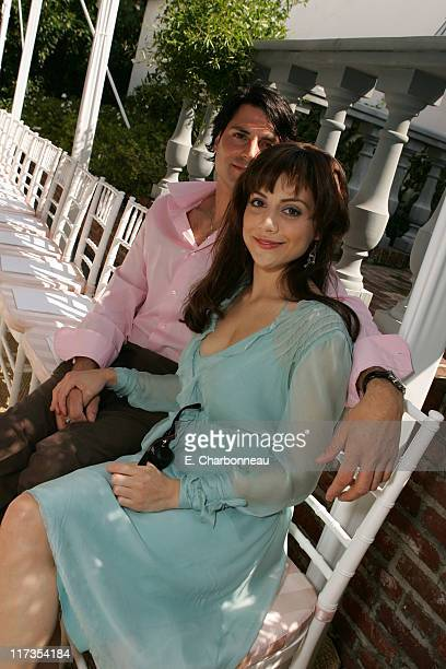 Brittany Murphy and friend during Veuve Clicquot Champagne at Couture Cares A benefit for breast cancer at Home of Colleen and Bradley Bell in Los...