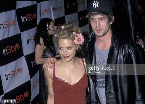 Brittany Murphy and guest during Party Celebrating the Third Publication of Kevyn Aucoin's 'Face Forward' at Lotus in New York New York United States