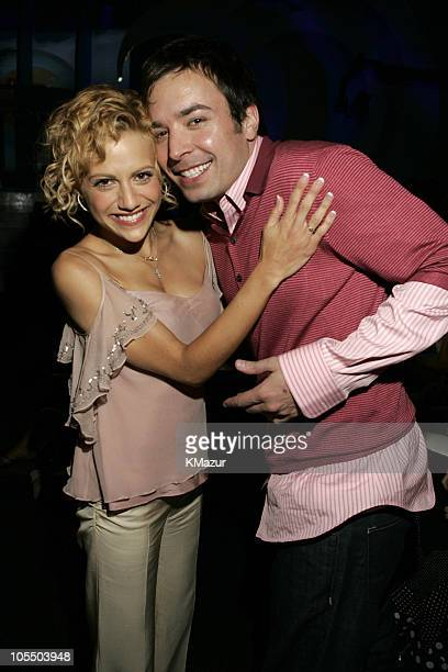 Brittany Murphy and Jimmy Fallon during The 2004 Teen Choice Awards Backstage and Audience at Universal Amphitheatre in Universal City California...