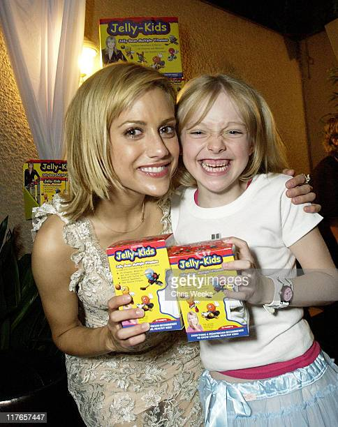 Brittany Murphy Dakota Fanning visit Jelly Kids during 2003 Teen Choice Awards Backstage Creations Day of Show at Universal Amphitheatre in Universal...