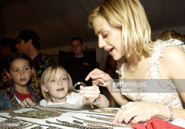 Brittany Murphy Dakota Fanning visit Zoppini during 2003 Teen Choice Awards Backstage Creations Day of Show at Universal Amphitheatre in Universal...