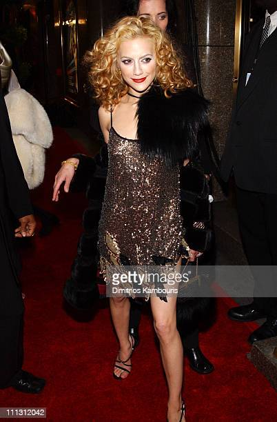 Brittany Murphy during 2002 VH1 Vogue Fashion Awards Backstage and Audience at Radio City Music Hall in New York City New York United States