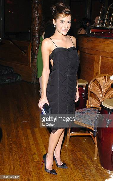 Brittany Murphy during 2005 Glamour/Miramax Golden Globes Party Inside at Beverly Hilton Hotel in Los Angeles California United States