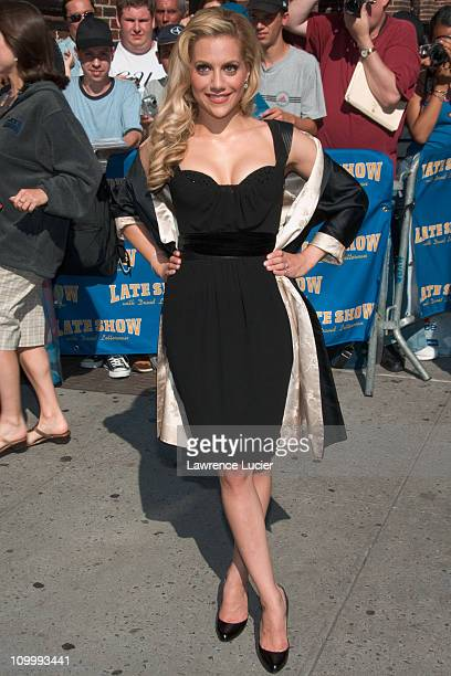 Brittany Murphy during Brittany Murphy and Brandon Routh Stop By ''The Late Show With David Letterman'' June 20 2006 at Ed Sullivan Theater in New...