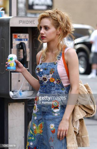 Brittany Murphy during Brittany Murphy On Location for 'Molly Gunn' at 83rd Street and 1st Ave in New York City New York United States