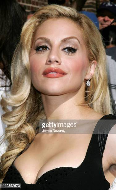 Brittany Murphy during Brittany Murphy Visits the 'Late Show With David Letterman' June 20 2006 at Ed Sullivan Theatre in New York City New York...