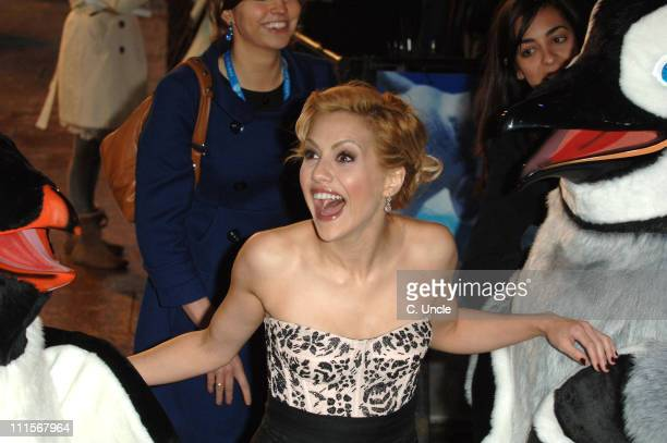 Brittany Murphy during 'Happy Feet' London Premiere Outside Arrivals at Empire in London United Kingdom